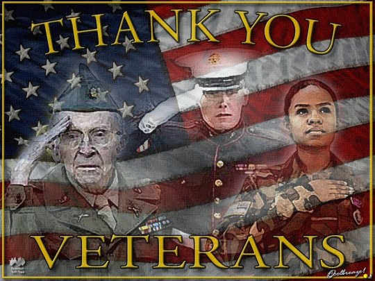 THANK YOU TO ALL OUR VETERANS, GOD BE WITH YOU ALL.