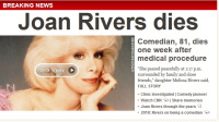 Joan Rivers Dies