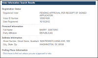 D.C. Board Of Elections Now Has Barry Soetoro Pending Approval And Registered As Republican