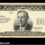 $100,000 1934 Gold Certificate Specimen