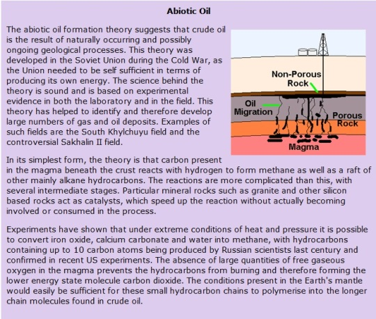 Abiotic Oil