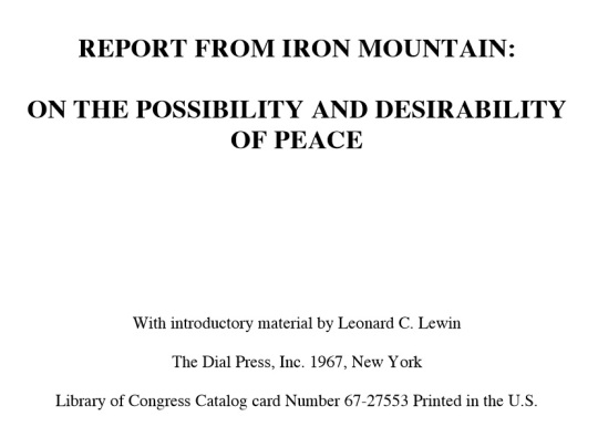 Iron Mountian Report