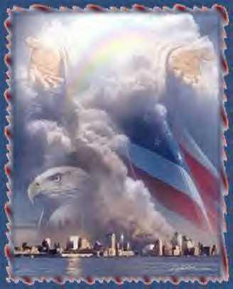 god,eagle,american flag
