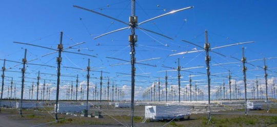Above: The Ionospheric Research Instrument (IRI) antenna array in Gakona Alaska, formerly known as the High Frequency Active Auroral Research Program (HAARP) , the program is now over, but the array is being controlled by the US Navy, who allocated 25 million for the array(s) listed in the FY2015 budget request.