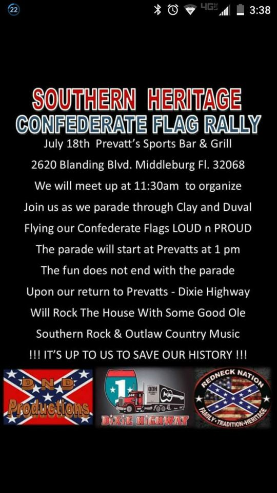 Souther Heritage Confederate Pride Rally