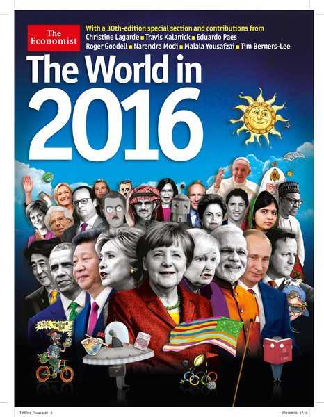 Front Cover of the Economist 2016